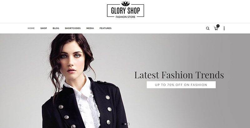 Gloryshop themes wordpress creer site web ecommerce fitness vente achat boutique en ligne