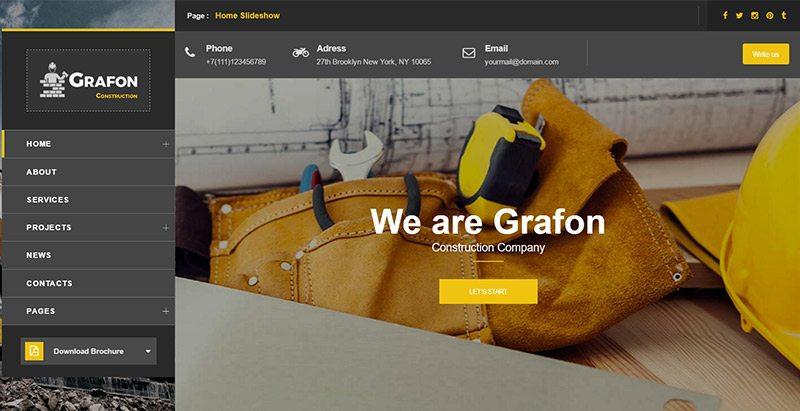 Grafon themes wordpress creer site web entreprise renovation construction reparation