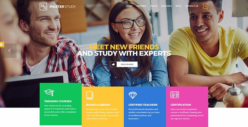 Masterstudy themes wordpress créer site web e learning education formation enseignement