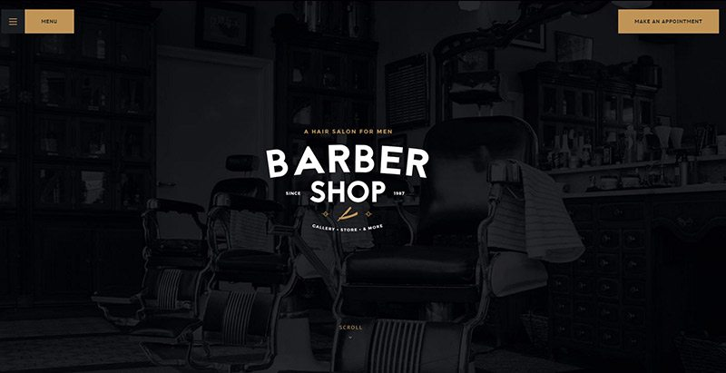 Barbershop themes wordpress creer site web salon coiffure beaute entreprise pme