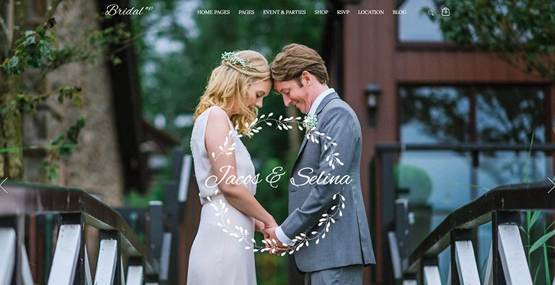 Bridal themes wordpress creer site web mariage organisateur evenement