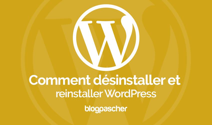 Cómo desinstalar y volver a instalar WordPress | BlogPasCher