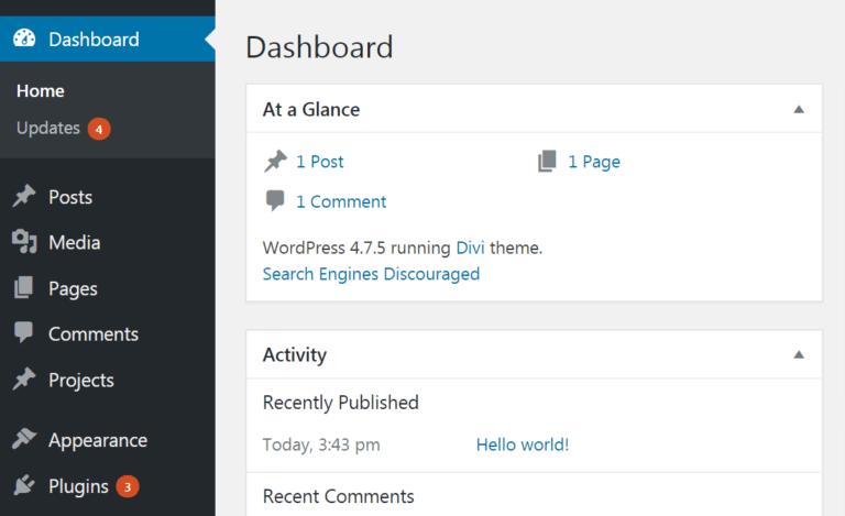 Обновите плагины wordpress
