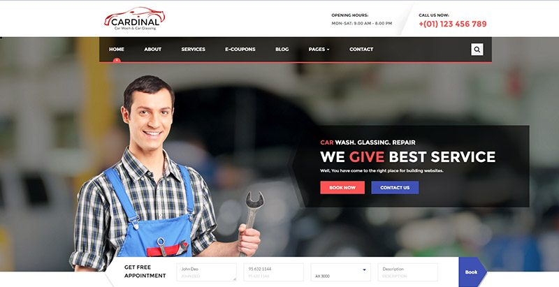 Cardinal themes wordpress creer site web garage automobile reparation vehicule
