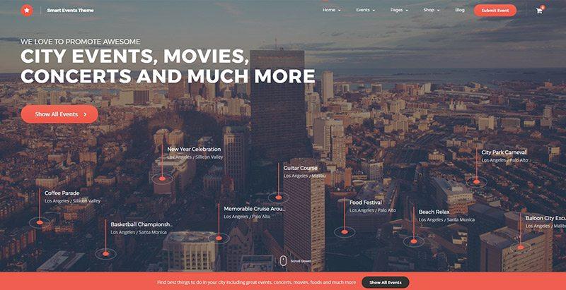 thèmes WordPress pour créer un site Web de conférence Eve