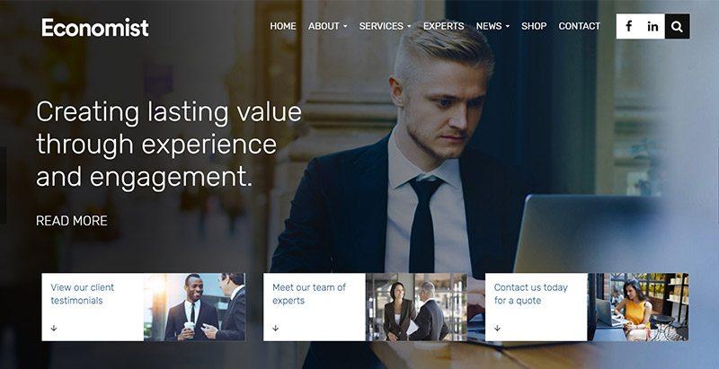 Economist themes wordpress creer site web startup pme entreprise societe