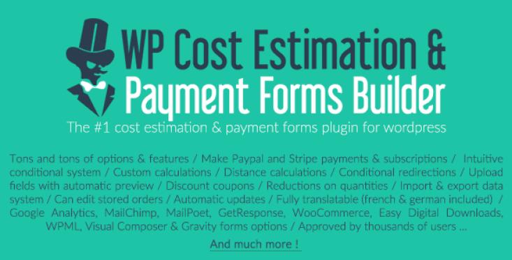 Estimationpaymentforms plugin wordpress pour formulaires