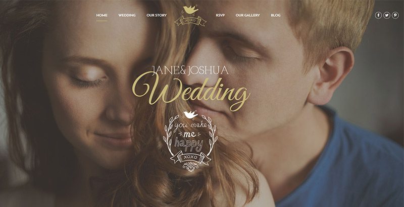 Eternity themes wordpress creer site web mariage fiancailles epouse marie mariee