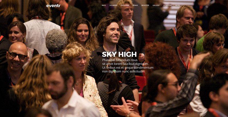 Eventr themes wordpress creer site web evenements conference congres point de presse