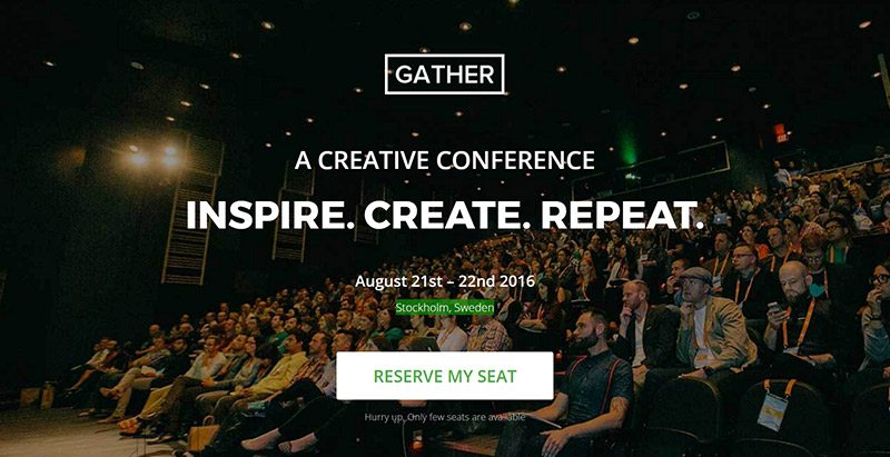 Gather themes wordpress creer site web evenements conference congres point de presse