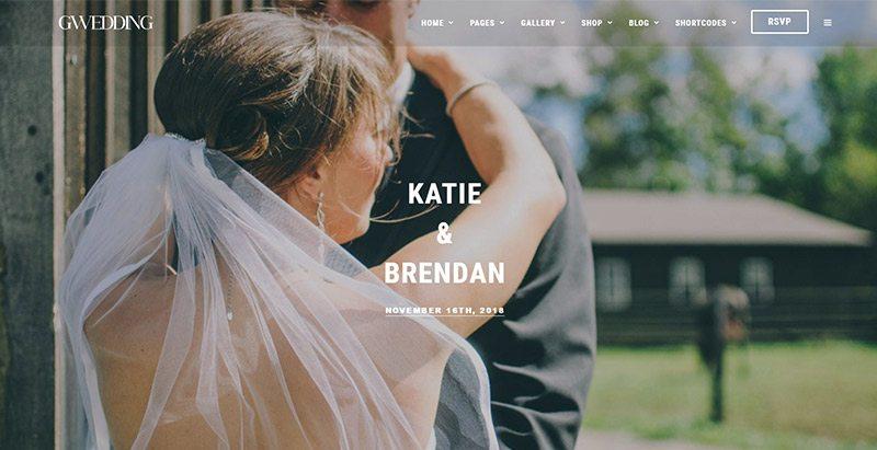 Grandwedding themes wordpress creer site web mariage fiançailles évènements organisateur