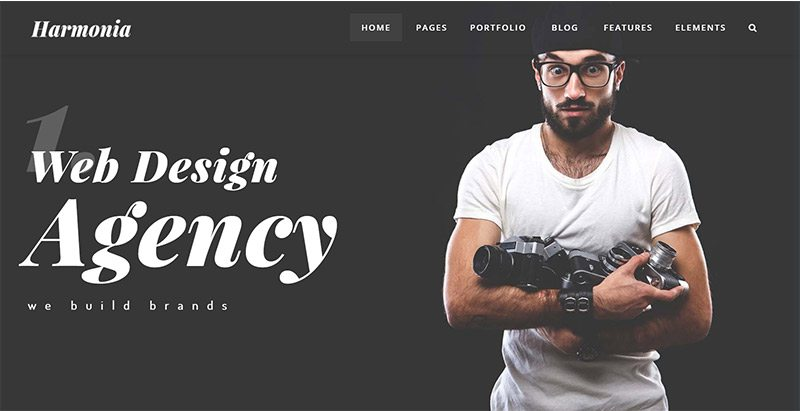 Harmonia themes wordpress creer site internet freelance