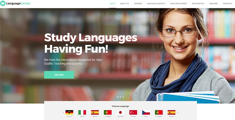 créer un site Web académique - Languagecenter