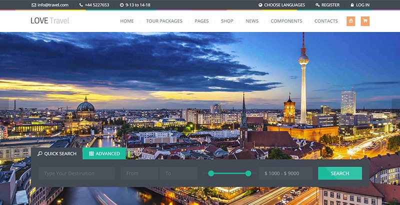 Love travel themes wordpress creer site web agence voyages tourisme hotel tour operateur