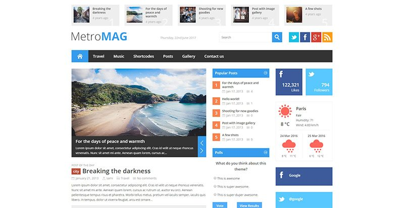 10 Temas de WordPress para crear un sitio web de la revista ...
