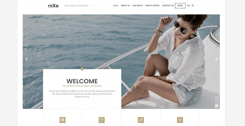 Nixe themes wordpress creer site web booking reservations rendez vous calendrier