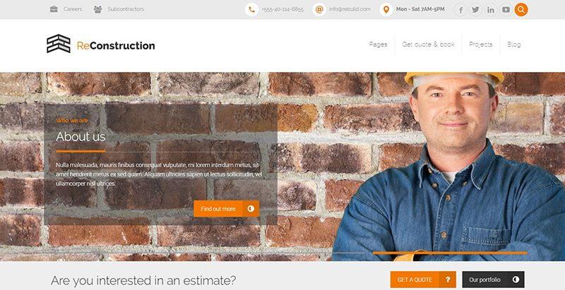 f89d23b36 20 WordPress-temaer for å lage nettsted for et byggefirma | BlogPasCher