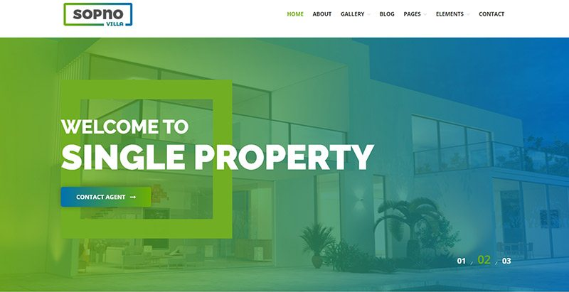 Sopnovilla themes wordpress creer site web agence immobiliere entreprise agent immobilier