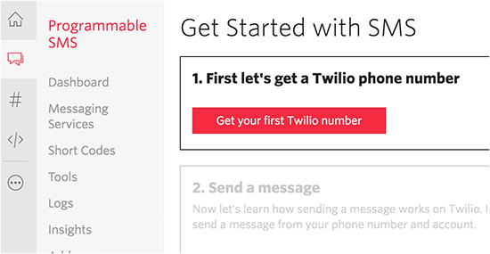 Récuperer un numero twilio wordpress