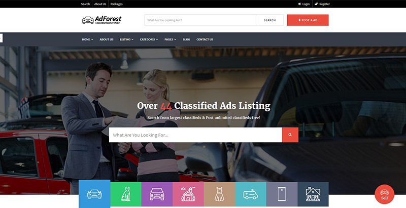 Adforest themes wordpress creer portail web annonces offres emplois