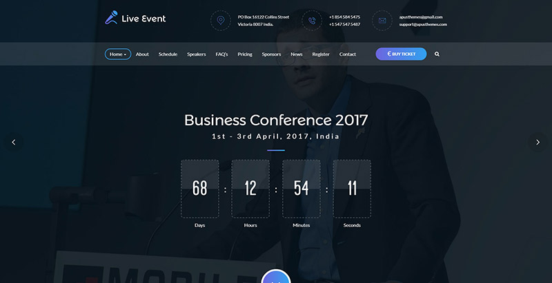 10 Temas de WordPress para crear un sitio web del evento | BlogPasCher