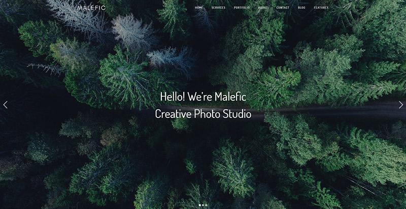 Malefic themes wordpress creer site web personne agence creative