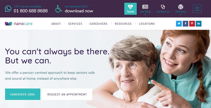 WordPress temas dedicados a la creación de sitios web de hospitales ...