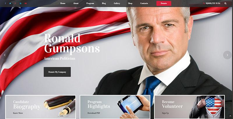10 thèmes WordPress pour créer un site Web de parti politique