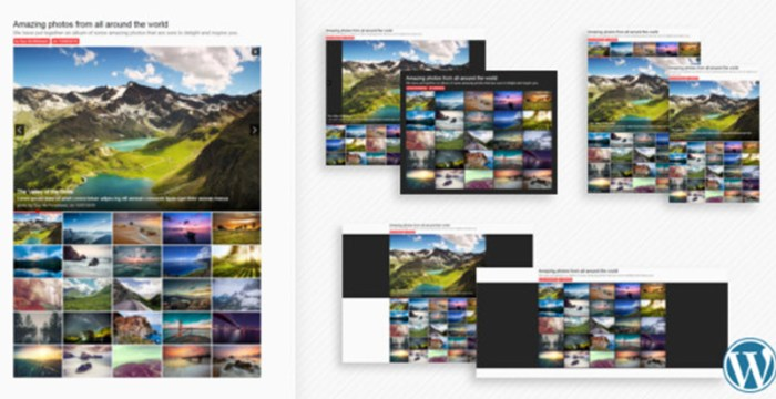 Sharp gallery plugins wordpress ajouter galerie portfolio site web blog