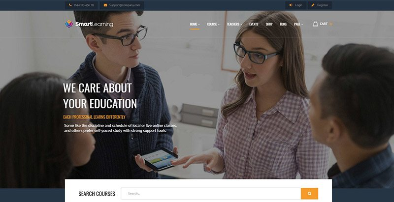 Smart learning themes wordpress creer site apprentissage en ligne lms formation elearning