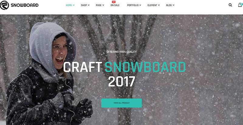 Snowboard themes wordpress creer site web ecommerce pret a porter boutique ligne vente achat