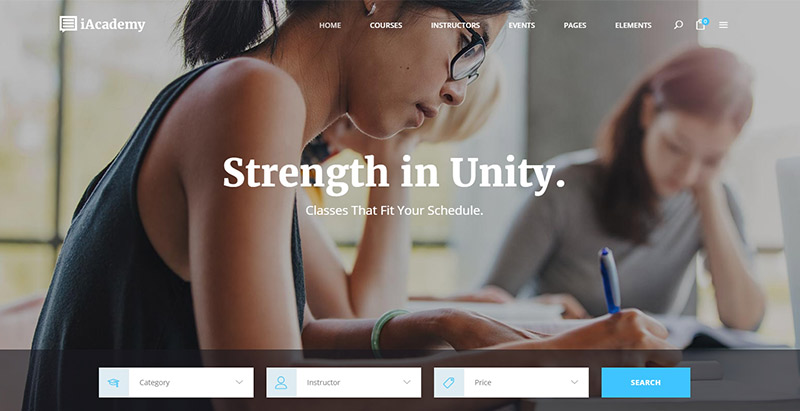 Iacademy themes wordpress creer site apprentissage en ligne lms formation elearning