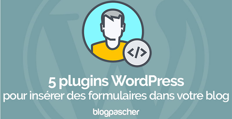 Plugins Wordpress Inserer Formulaires Blog Site Web