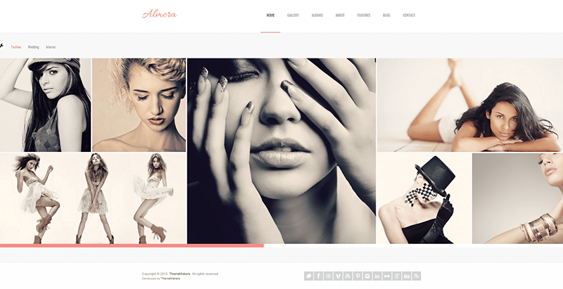 Almera themes wordpress creer site web agence top models mannequins fashion