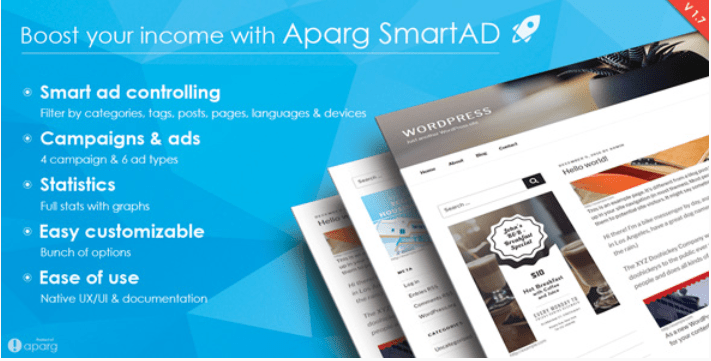 Aparg smartad wordpress ad management plugin