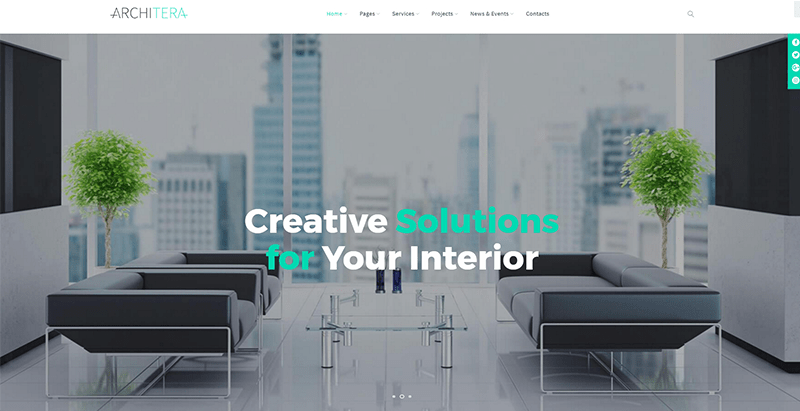 Architera themes wordpress site web entreprise construction architecte immobilier