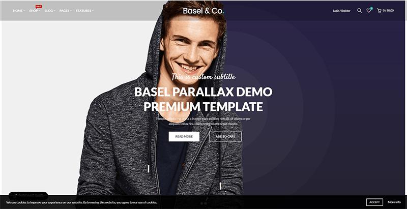 thèmes WordPress pour créer une boutique en ligne de vêtements - Basel