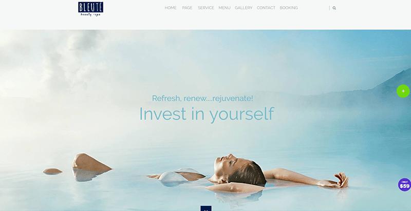 Bleute themes wordpress creer site web spa centre bien être villégiature