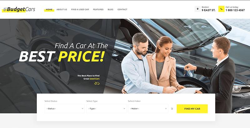 Th mes wordpress pour site web de concessionnaire auto et for Budget pour ouvrir un garage auto