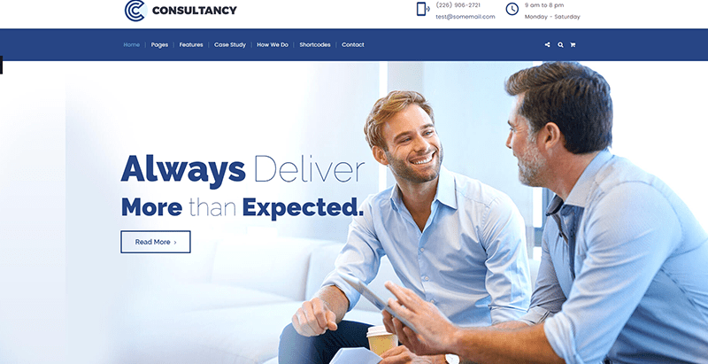 Consultancy themes wordpress creer site web compagnie assurance assureur