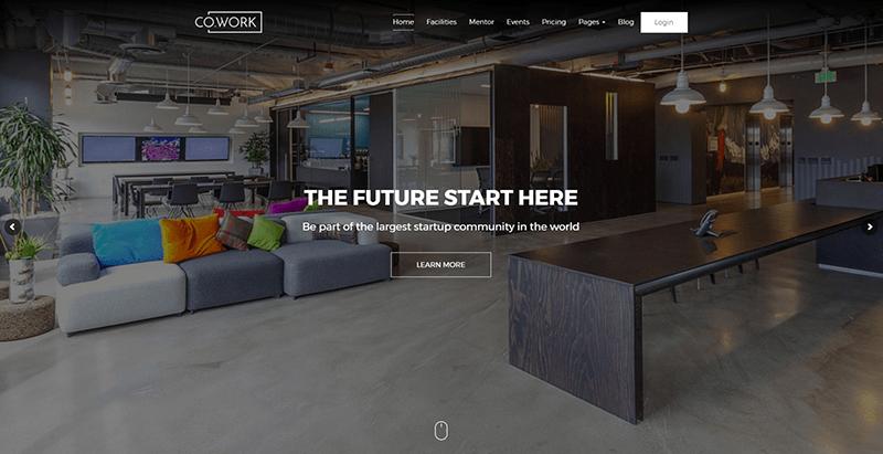 Cowork themes wordpress creer site web entreprise coworking bureaux