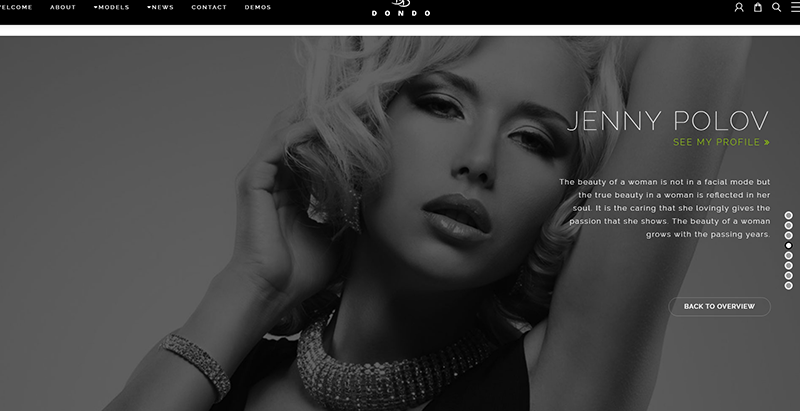 Dondo themes wordpress creer site web agence top models mannequins fashion