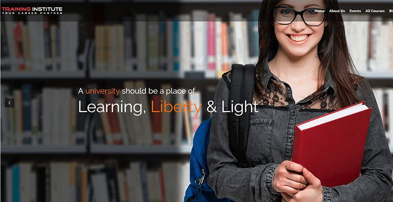 Education training institute themes wordpress creer site web elearning universite college ecole