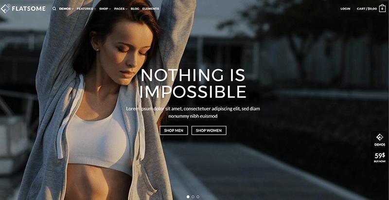 Flatsome themes wordpress criar site de comércio eletrônico loja on-line venda compra e-commerce
