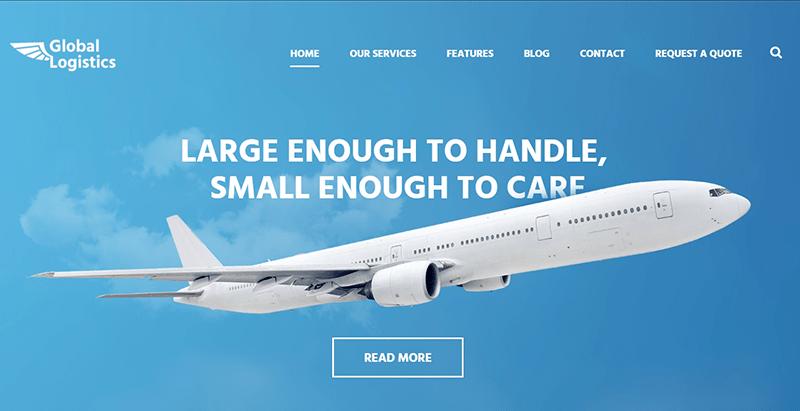 Global logistics themes wordpress creer site web entreprise transport fret logistique livraison expedition
