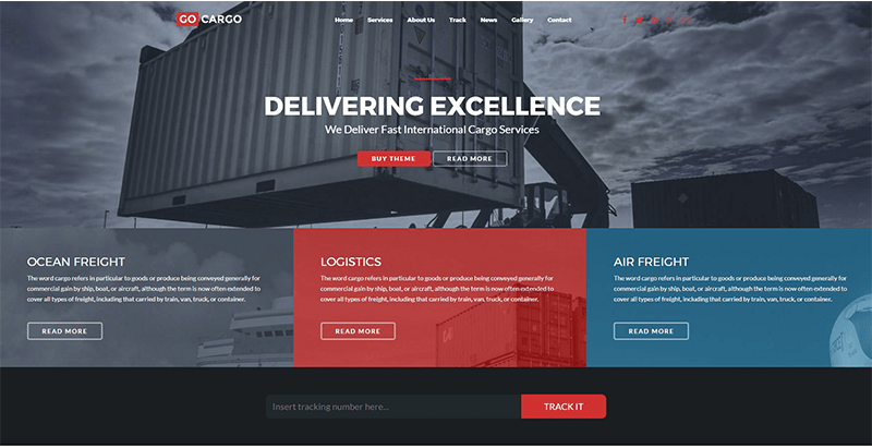 Temas de WordPress para el negocio del transporte y la logística ...