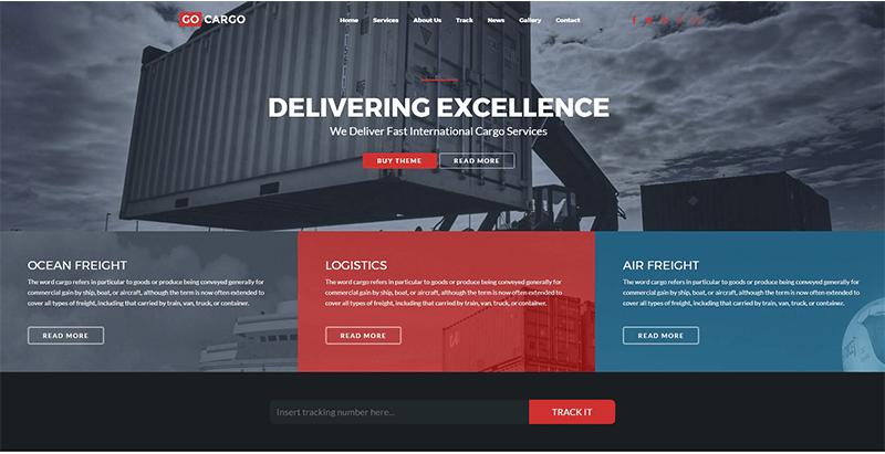 Wordpress Themes für Business-Website-Transport und Logistik ...