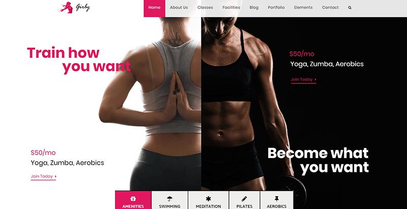 Gym Theme Wordpress Criar site de clube de fitness