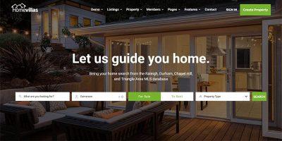 Homevillas Themes Wordpress Stwórz stronę internetową Sprzedaż Nieruchomości Mieszkanie Studio Willa