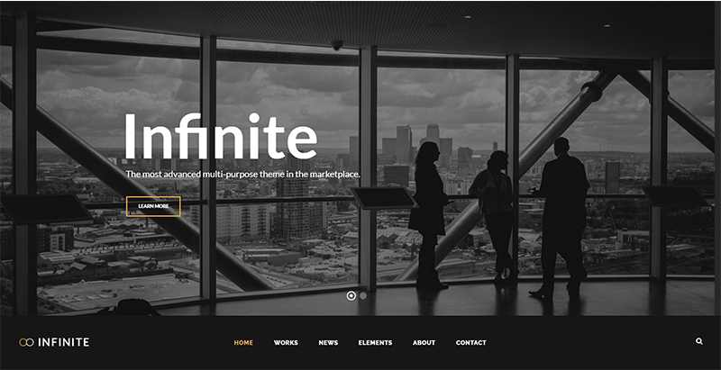 Infinite themes wordpress populaires creer site web entreprise ecommerce startup creative